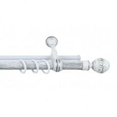 Карниз 28мм Dolce металлопластик Белое серебро 2,4 м