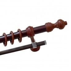Карниз Д28 металлопластик с рельсой 1,6м махагон