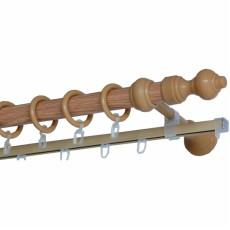 Карниз металлопластик  с рельсой 1,2м дуб