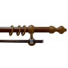 Карниз металлопластик  с рельсой 1,2м дуб рустик