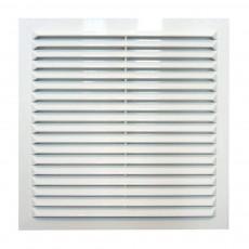 Решетка вентиляционная вытяжная АБС 208х208 белая 2121Р