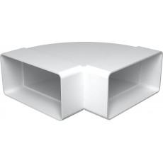 Колено горизонтальное пластик 90° 612КГП , 60х120