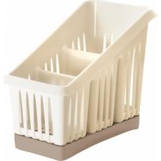 Сушилка для столовых приборов 3х-секционная Bono сливочный крем/капучино