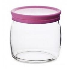 Банка для сыпучих продуктов  с розовой крышкой ЧЕШНИ 500 мл PSB 97424СЛ1 (г. Бор)