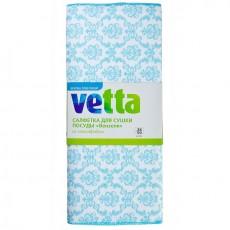"""Салфетка для сушки посуды из микрофибры VETTA 38x50см, 210г/кв.м, """"Вензеля"""" 4 цвета, 448-065"""