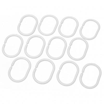 Кольца для штор 12 шт. (белые) AK-06