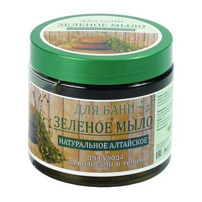 Мыло для бани и душа зеленое натуральное Алтайское Day Spa  зеленое 500МЛ
