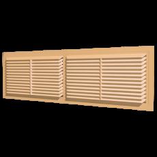 4513РП  Решетка вентиляционная переточная АБС 455х133, бежевая