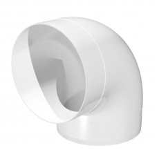 12,5ККП Колено круглое пластик 90  D125