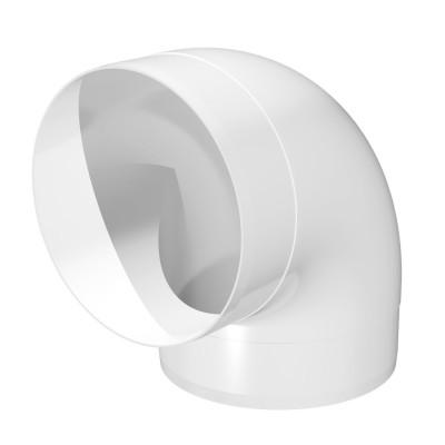 12,5ККП Колено круглое пластик  D125