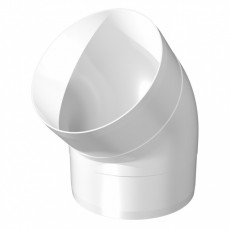 12,5ККП 45, Колено круглое пластик 45, D125 (24)