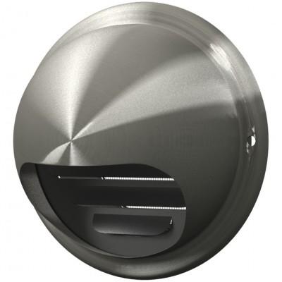Выход стенной вентиляционный вытяжной металлический с фланцем D125, 12,5ВМ